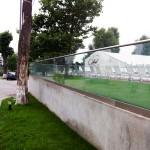 balustrada sticla piscina exterioara