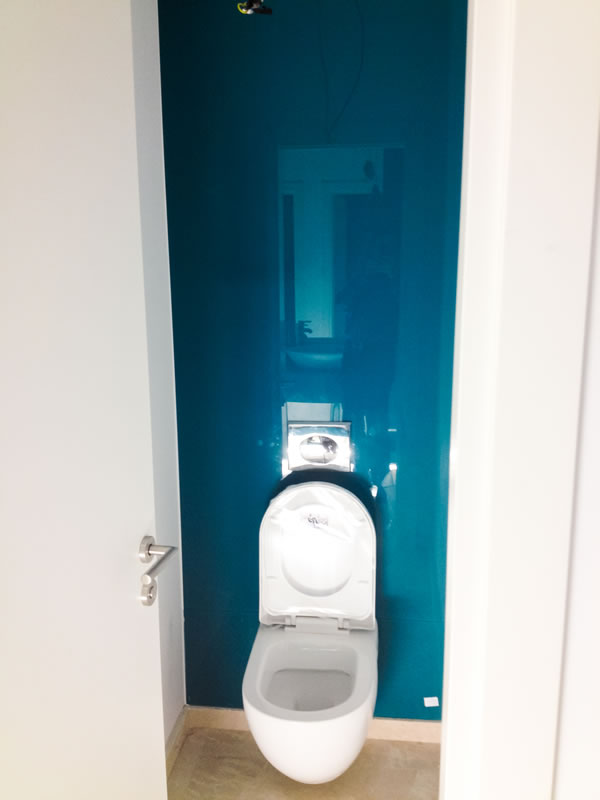 placare toaleta cu sticla